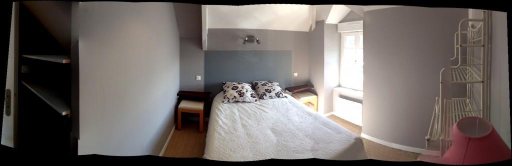 La chambre lits doubles de l'appartement la Mouette à Dinard