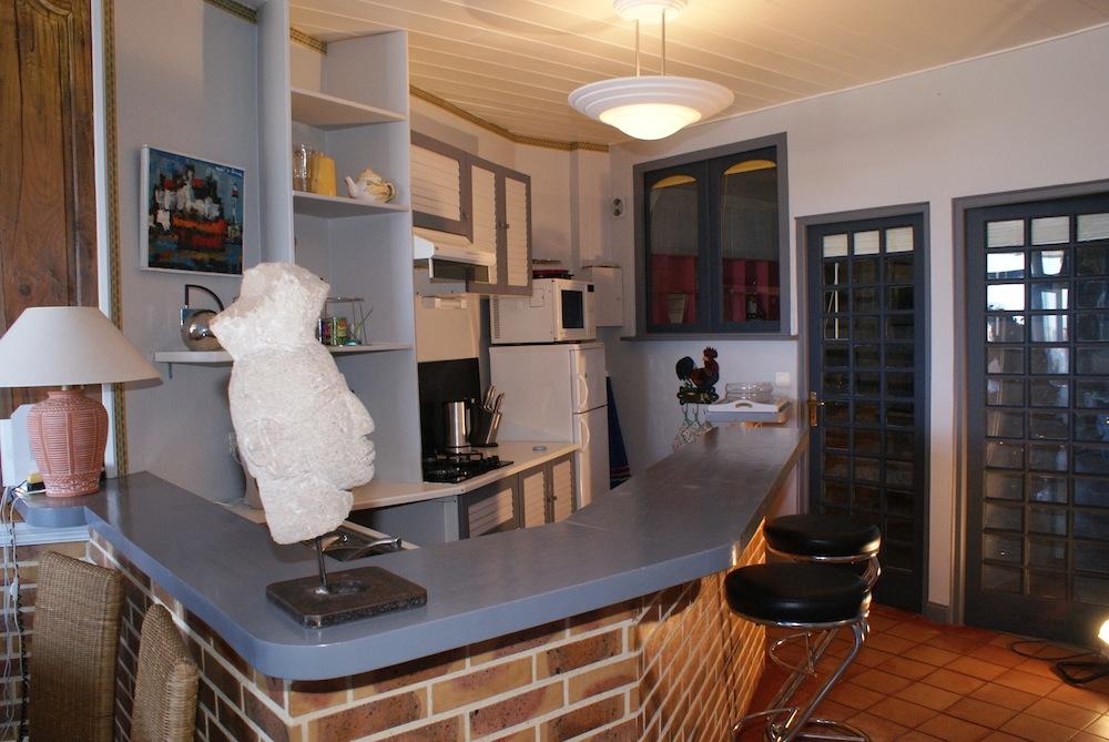 La cuisine de l'appartement l'Etrille à Dinard