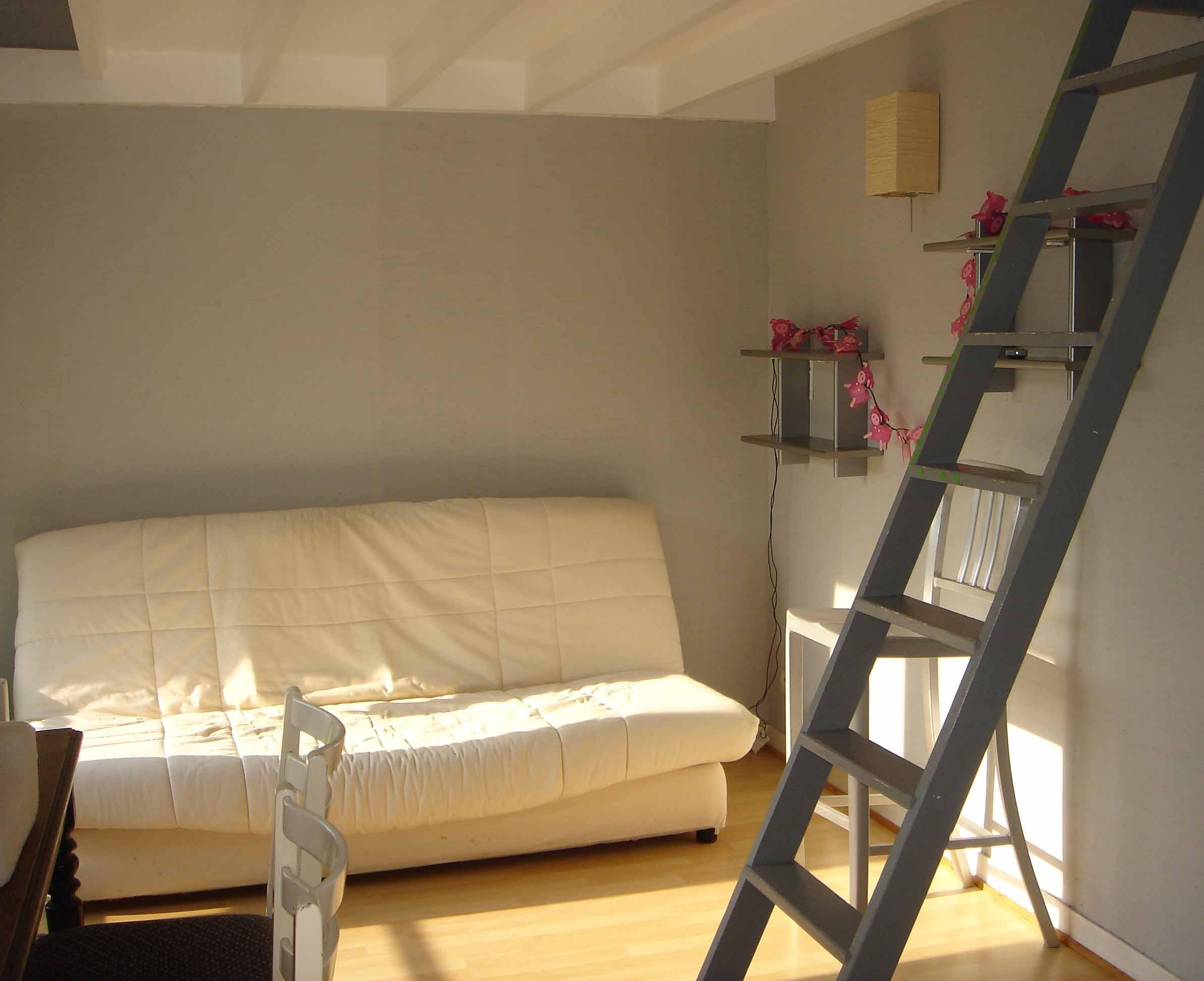 La salon séjour de l'Etoile de Mer à Dinard