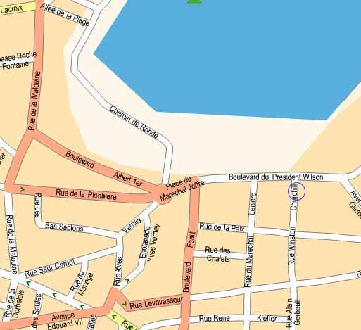 L 39 etoile de mer centre de dinard vue de mer for Piscine dinard