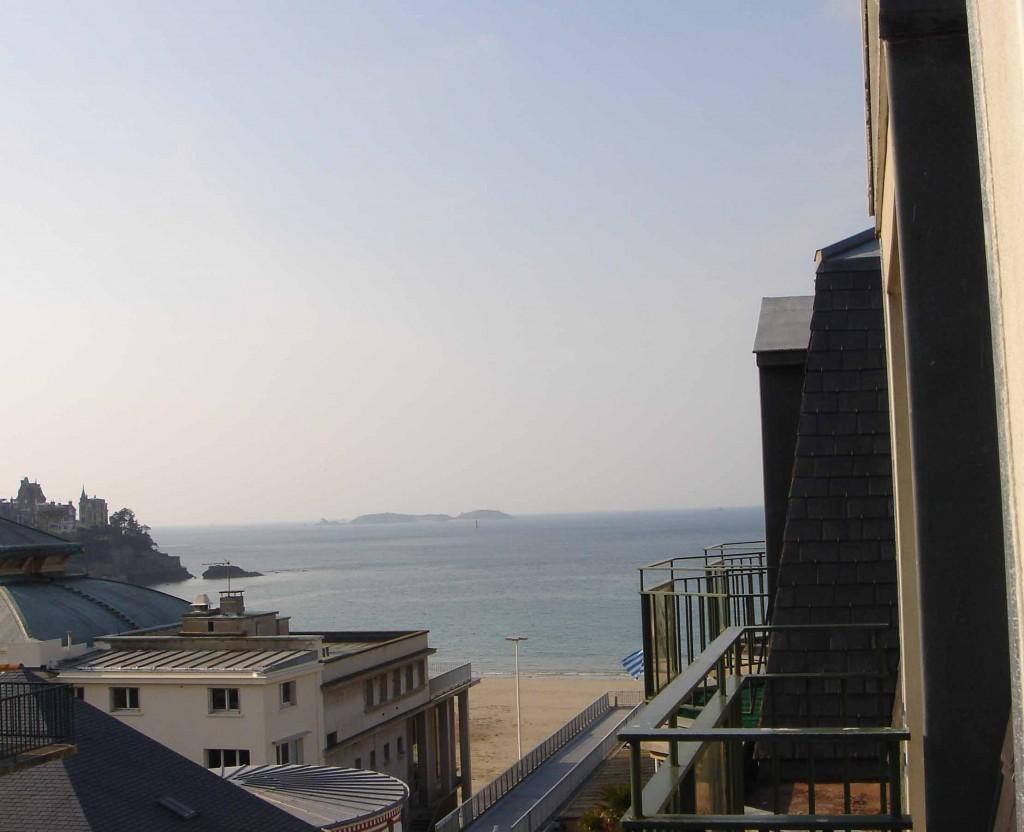 La vue sur la plage de Dinard