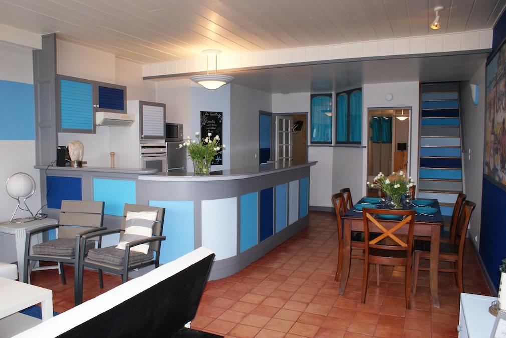 Salon séjour de l'appartement la Crevette à Dinard