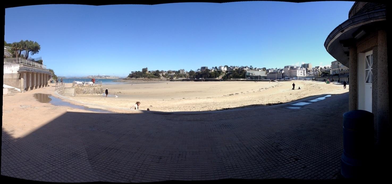 La vue de la plage de l'Ecluse de de l'appartement l'Etrille à Dinard